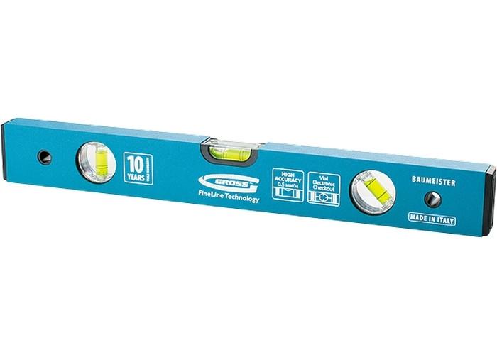 (33636) Уровень алюминиевый усиленный, 1500 мм, толщина проф. 2 мм, 3 глазка// GROSS
