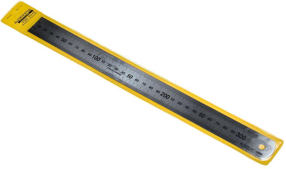 """(3427-030) Линейка STAYER """"PROFI"""" из нержавеющей стали, 0,3м"""