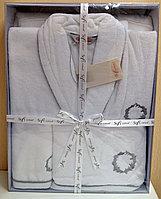 Мужской подарочный набор. Халат и 2 полотенца. Хлопок. Турция.