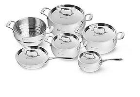 Набор посуды YAMATERU, 11 предметов, нержавеющая сталь, серия HARU (4991009)