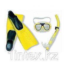 Набор для плавания INTEX  Маска, трубка, ласты
