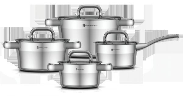 Набор посуды YAMATERU, 8 предметов, нержавеющая сталь, серия HOSHI