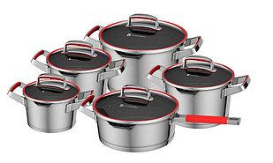 Набор посуды YAMATERU, 10 предметов, нержавеющая сталь, серия KAMINARI