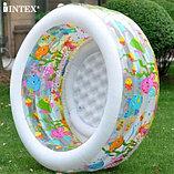 Надувной бассейн Аквариум INTEX Deluxe с надувным дном, фото 2