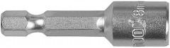 "(26390-08) Бита STAYER ""PROFI"" с торцовой головкой, ""Нат-драйвер"", магнитная, тип хвостовика - E 1/4""."