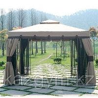 Садовый павильон ( 3x3м), серый, бордовый