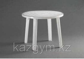 Стол пластиковый круглый, белый