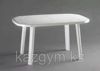 Стол пластиковый овальный, белый