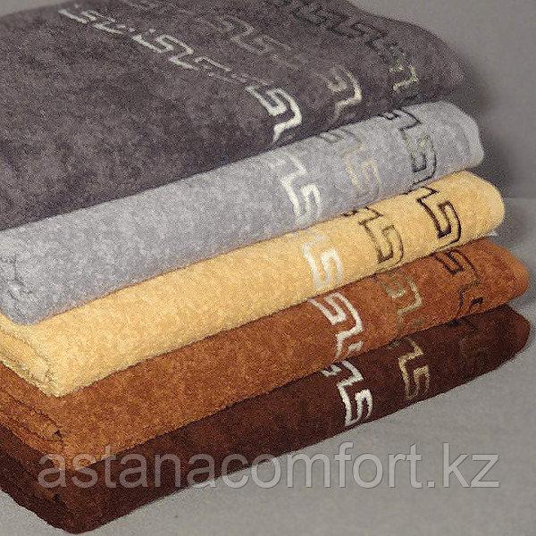 Полотенце махровое лицевое для мужчин. Цвет и вышивка в ассортименте. Турция.