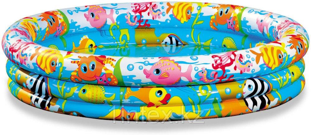 """Надувной детский бассейн """"На рыбалке"""" Intex 132 х 28"""