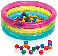 Бассейн детский надувной с шариками (50 шт.), от 1 до 3 лет, фото 1