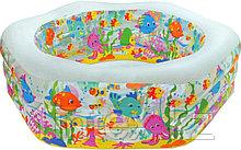 """Надувной бассейн """"аквариум"""", """"Риф"""" с надувным дном Intex"""