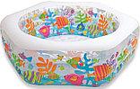"""Надувной бассейн """"аквариум"""", """"Риф"""" с надувным дном Intex, фото 2"""