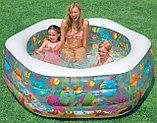 """Надувной бассейн """"аквариум"""", """"Риф"""" с надувным дном Intex, фото 4"""