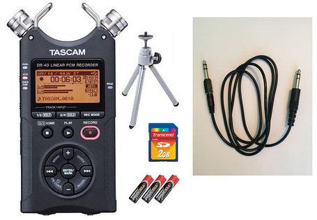 Аудио рекордер tascam dr-40 +аксессуары и +2GB SD карта памяти, фото 2