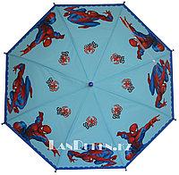 """Зонт-трость детский голубой """"Человек Паук"""" (класс 1)"""