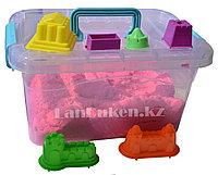 Кинетический песок для детей большой (1 Класс), живой песок (розовый)
