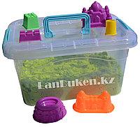 Кинетический песок для детей большой (1 Класс), живой песок (зеленый)