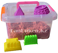 Кинетический песок для детей средний (1 класс), живой песок (оранжевый)