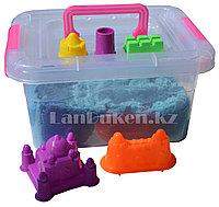 Кинетический песок для детей средний (1 класс), живой песок (голубой), фото 1