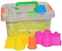 Кинетический песок для детей средний (1 класс), живой песок (зеленый), фото 1