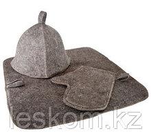 """Комплект для сауны """"Универсальный"""" (3 предмета), серый"""