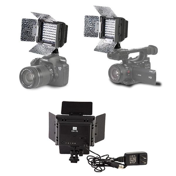 Накамерный LED 27-010 прожектор со встроенным аккумулятором!