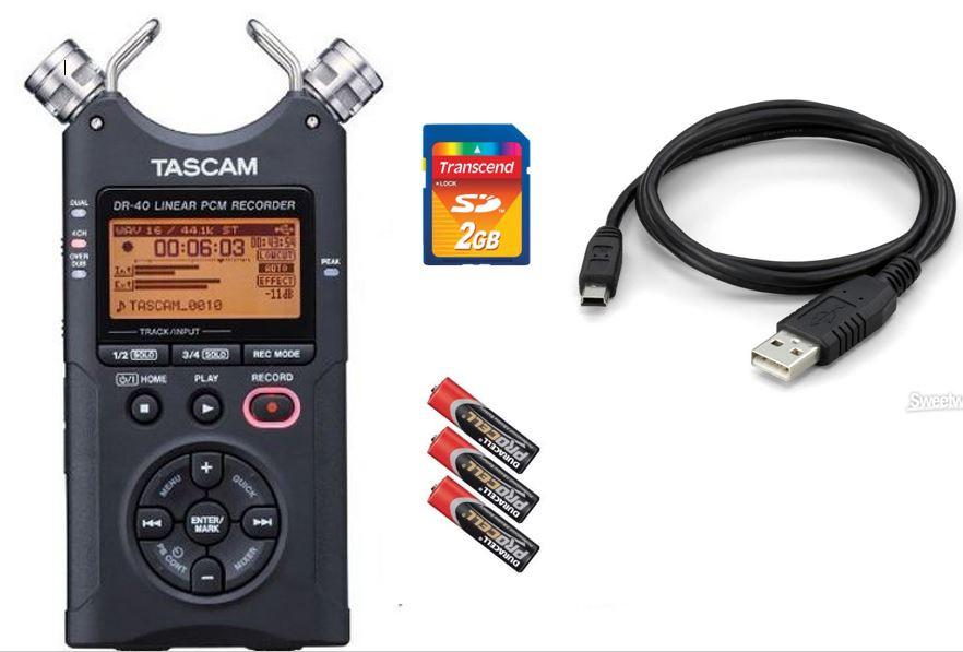 Аудио рекордер tascam dr-40 +2GB SD карта памяти
