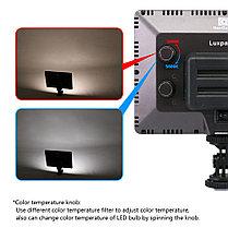 Ультра тонкий Накамерный LED прожектор LUX-22+ аккумулятор и зарядное уст., фото 3