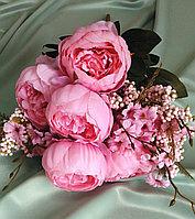 Букет розовых пионов (искусственный), фото 1