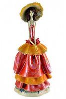 Статуэтка Леди в шляпке. Италия. Ручная работа. Керамика