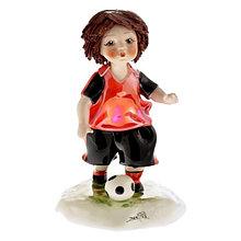 Статуэтка Мальчик-футболист. Италия. Ручная работа, керамика