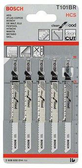 (2608630014) 5 Лобзиковых пилок T 101 BR, HCS//Bosch