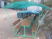 Беседка с двумя скамейками и столом, фото 1