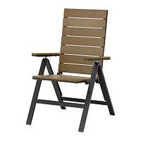 Кресло садовое /регулируемая спинка, коричневый складной коричневый ЭПЛАРО, ИКЕА, IKEA , фото 1