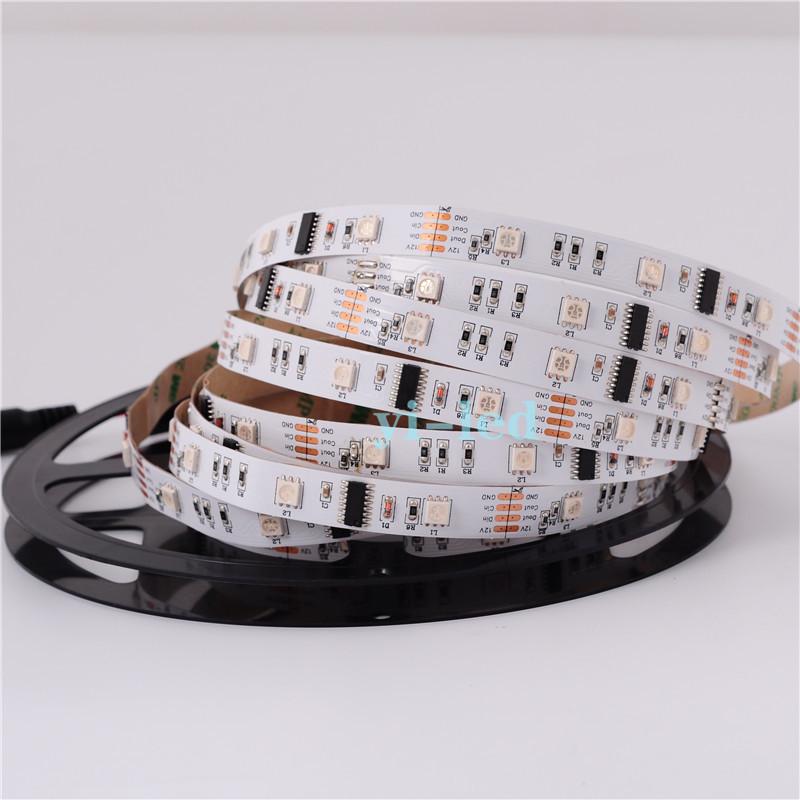 Светодиодная лента RGB IC(программируемая) SMD 5050 IP33 12V 30д/м, чипы LPD6803, WS2801, WS2811, TM1903