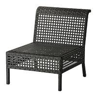 Кресло садовое КУНГСХОЛЬМЕН черно-коричневый ИКЕА, IKEA