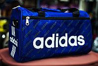 """Спортивная дорожная сумка """"ADIDAS"""", средняя 40х20х24см, (синяя)"""