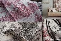 Портьерная ткань для штор, лен в стиле прованс