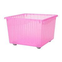 ВЕССЛА Ящик на колесах, светло-розовый