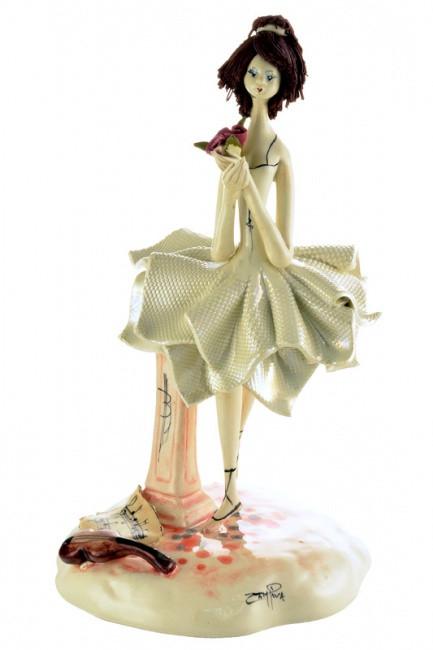 Статуэтка Балерина. Керамика, ручная работа, Италия