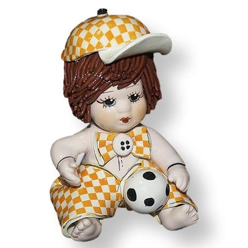 Статуэтка Мальчик с мячом. Керамика, Италия