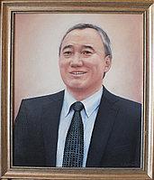 Портрет мужской по фотографии, выполнен маслом.