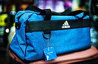 """Спортивная дорожная сумка """"ADIDAS"""", среднего размера 46х20х25см (голубая)"""