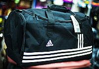 """Спортивная дорожная сумка """"ADIDAS"""", большая 56х26х30 см (черная)"""