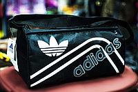 """Спортивная наплечная сумка """"ADIDAS"""", маленькая 38х20х20 см (черная)"""