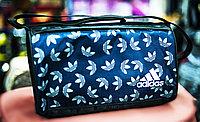 """Спортивная дорожная наплечная сумка """"ADIDAS"""", маленькая 37х20х22 см (черная)"""