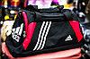"""Спортивная дорожная сумка """"ADIDAS"""", большая 53х25х30см, (черная)"""