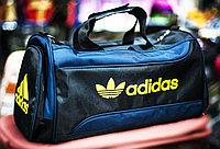 "Спортивная дорожная сумка ""ADIDAS"", средняя 40х23х25см, (черная)"