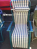 Лежак для дачи и дома (шезлонг.синтепон,пластик,метал)